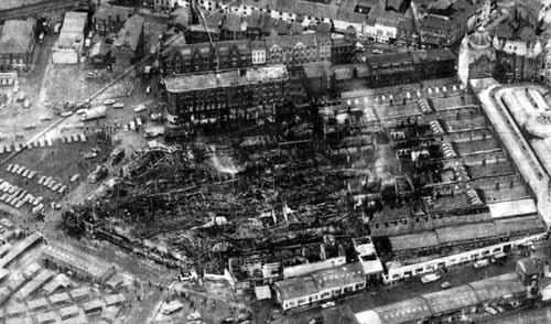 Leeds Kirkgate Market fire devastation– photo 3, click to enlarge