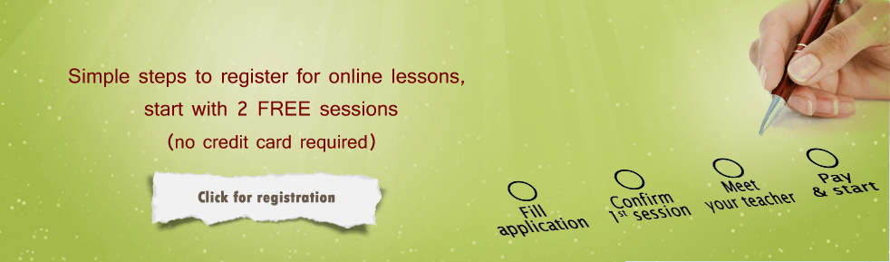 register for online arabic lesson with native speakers