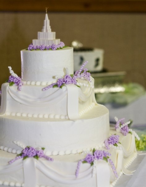 LDS Wedding Cakes