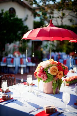 umbrellas are showing up everywhere now days the bridal shower is a natural we love this idea of crystal drops hanging from the umbrella