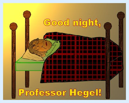 Hegel sleeping