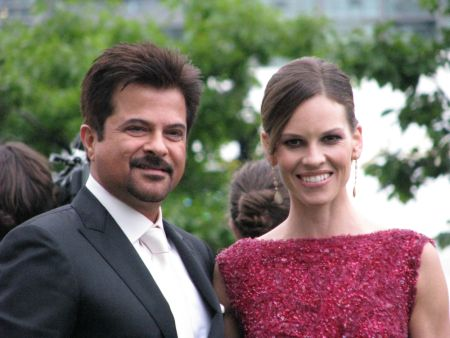 Anil Kapoor and Hilary Swank at the IIFA's in Toronto